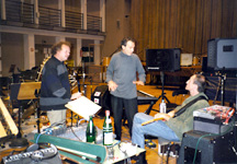 With Walter Quintus and Mark Nauseef, Hamburg, Germany, Dec. 1998
