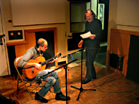 Recording with Rade Šerbedžija, Los Angeles, Feb. 2004