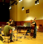 Recording for ECM with Claudio Puntin and Anders Jormin, Zürich,Mar. 2004