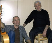In studio with Djivan Gasparyan, Los Angeles, Nov. 2005