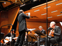 Performing with Vlatko Stefanovski, Thedosii Spassov and Orchestre Philharmonique de Monte Carlo conducted by Kristjan Järvi, Jan. 2013