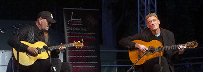Opening the Balaton Guitar Festival with Vlatko Stefanovski, Hungary, Jun. 2014